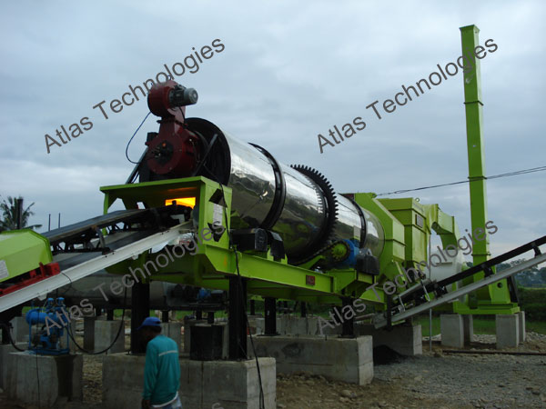 drying drum of asphalt mixing plant