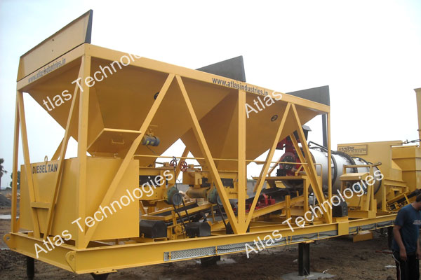 portable asphalt mixing plant exporter India