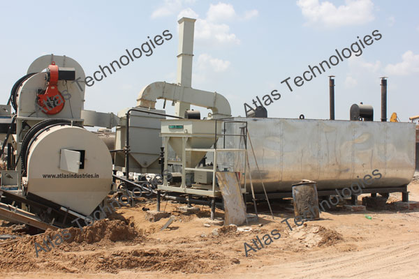 control panel of asphalt mix plant