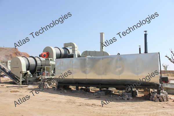 counter flow asphalt mixer