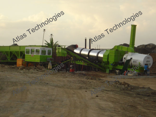 mobile asphalt drum mix plant exporter from Gujarat, India
