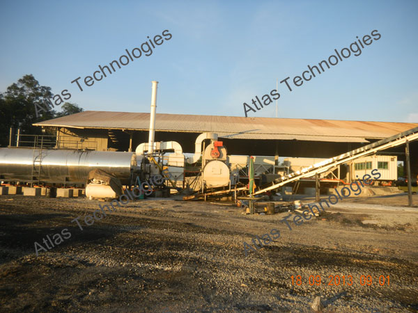 counter flow asphalt mixing plant
