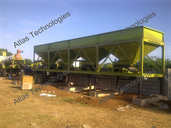 feeding unit of mobile asphalt mix plant