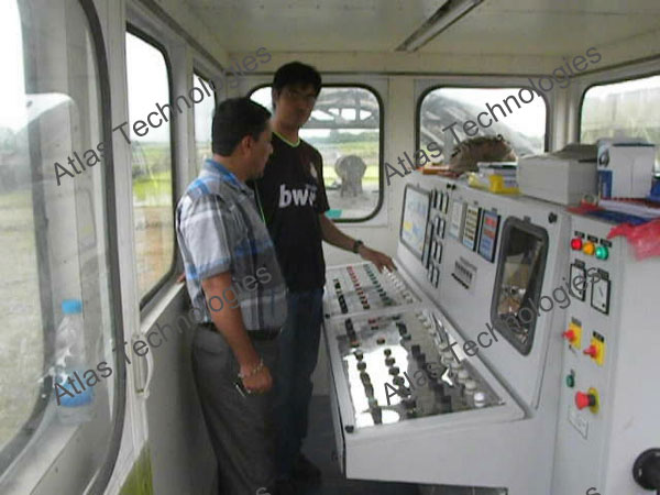 control panel of asphalt drum mix plant