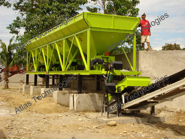 aggregate feeding unit of asphalt mixer