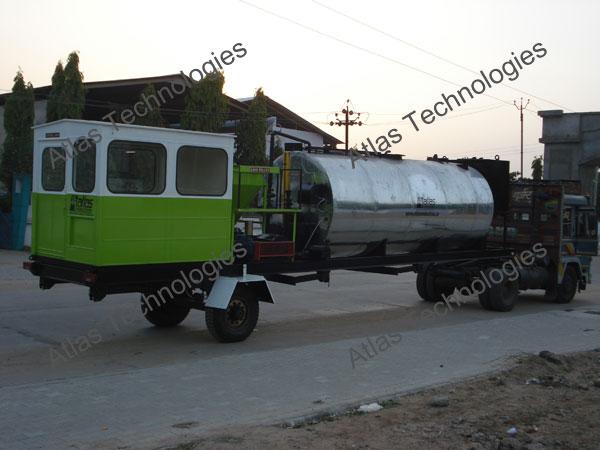 portable bitumen storage tank