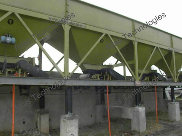 cold aggregate feeder of drum mixer plant