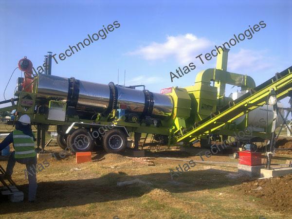 drying unit of mobile asphalt mix plant