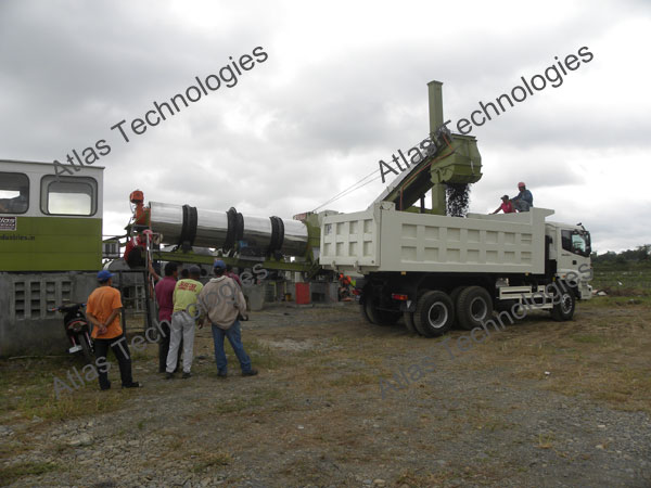 dryer drum asphalt plant