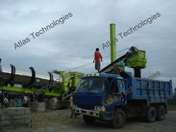 drying drum of asphalt mixer