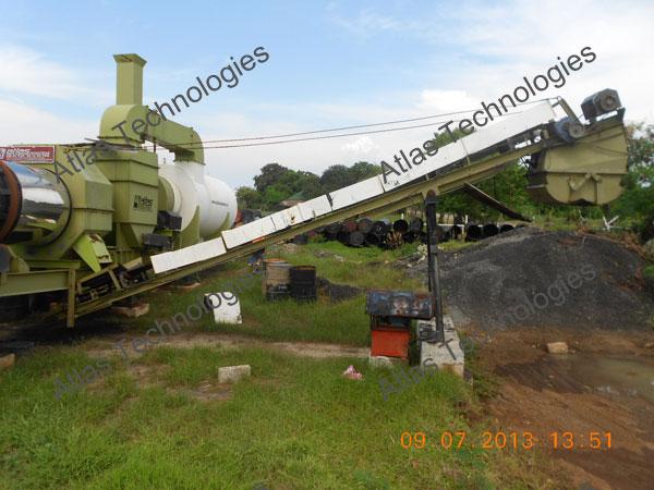 mobile asphalt mix plant India