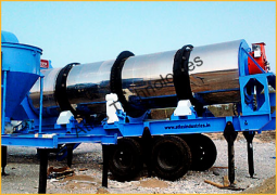 Portable asphalt drum mixing plant
