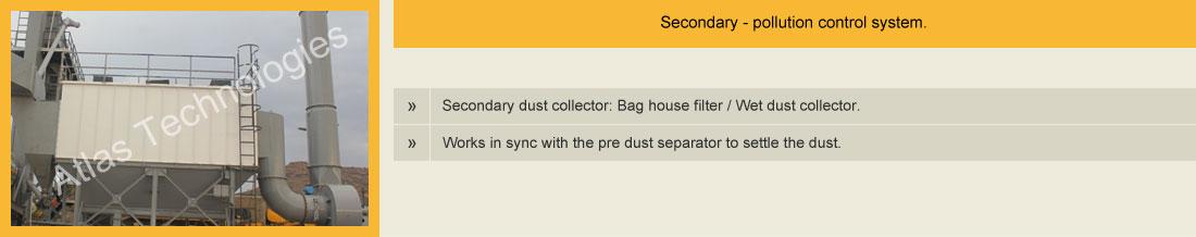 Bag filter for hot mix plant