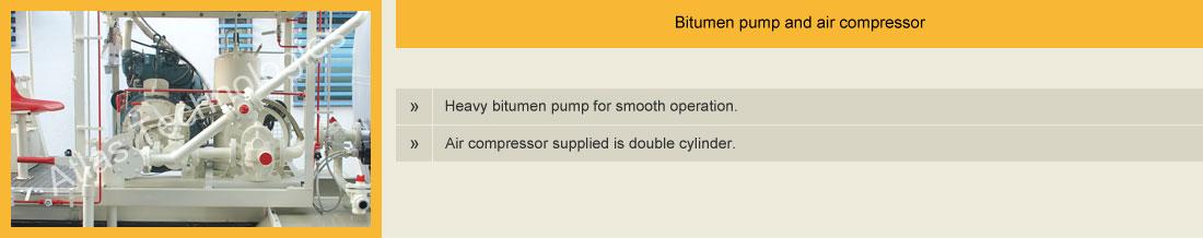 bitumen pump and air compressor of sprayer