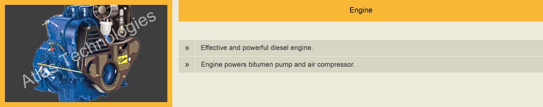 engine of bitumen sprayer