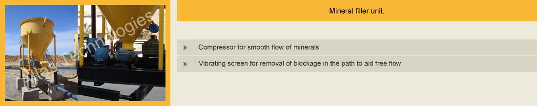 mineral filler asphalt drum plant