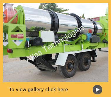 mobile asphalt mix plant