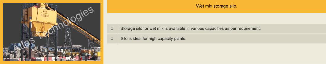 silo wet mix plant